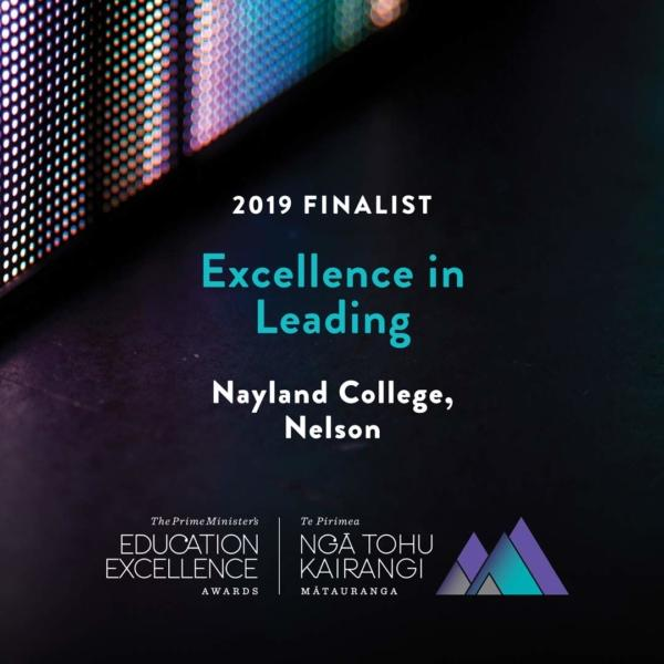 Excellence in Learning Awards 2019 for Nayland College